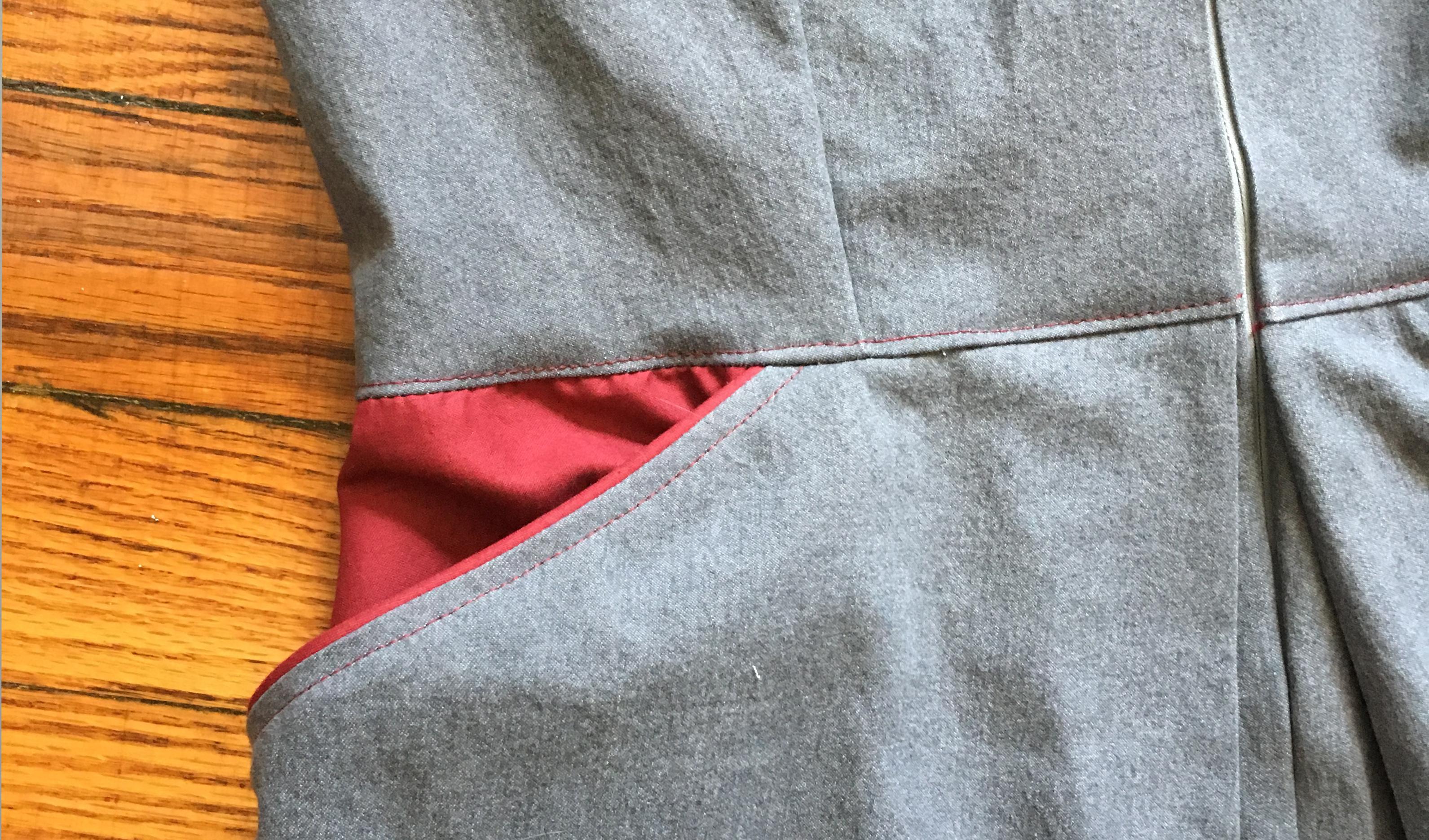 détail de la poche