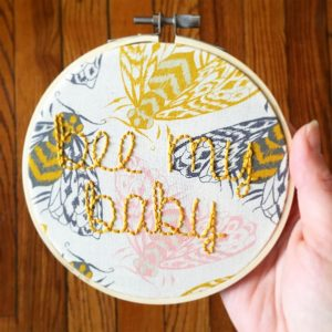 Bee my baby embroidery