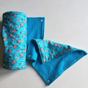 Paperless paper towel blue-roses