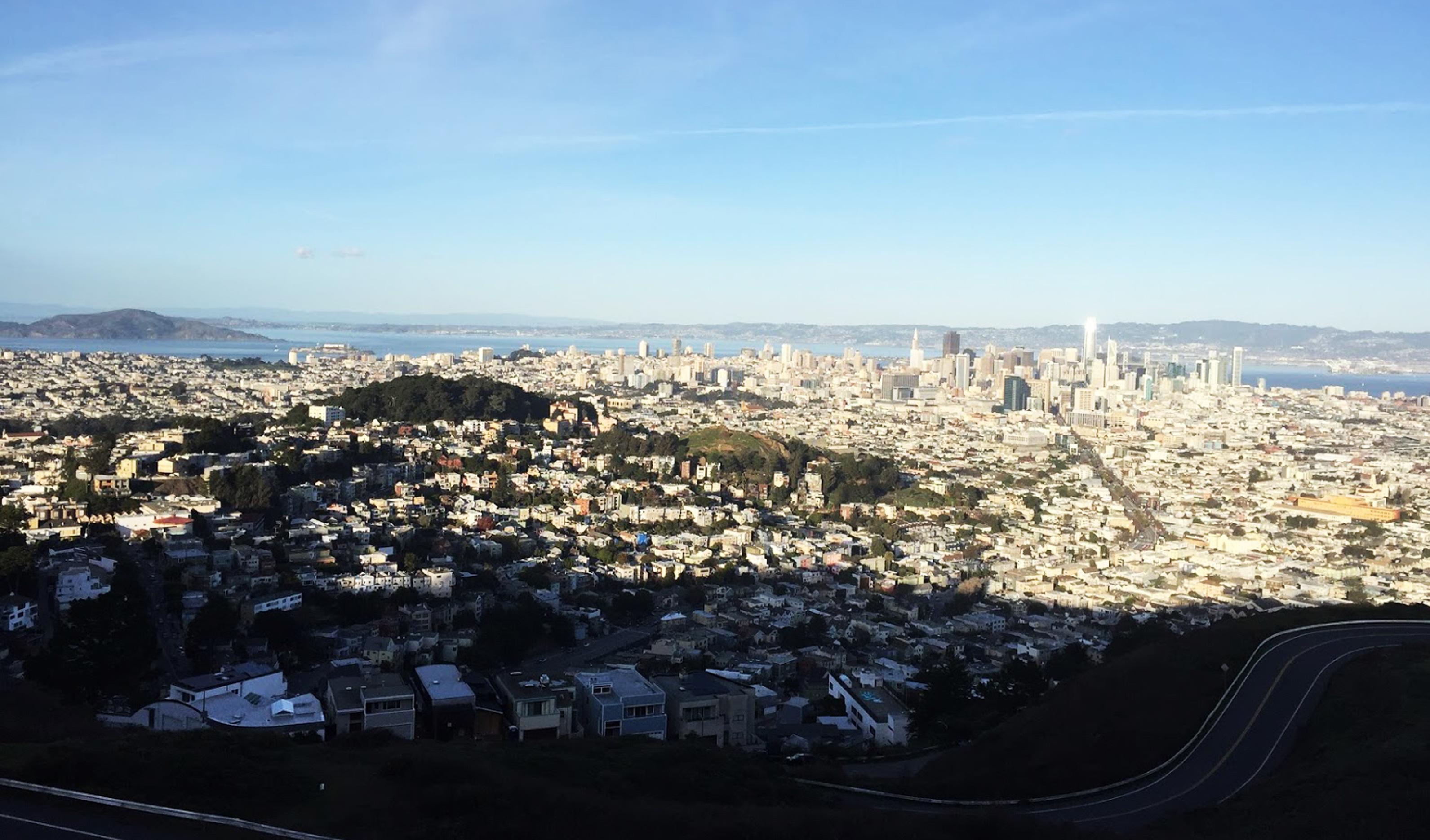 San Francisco depuis Twin Peaks