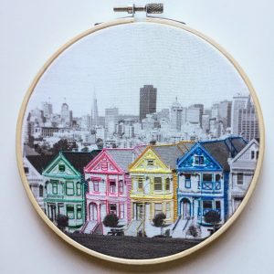 Painted ladies embroidery