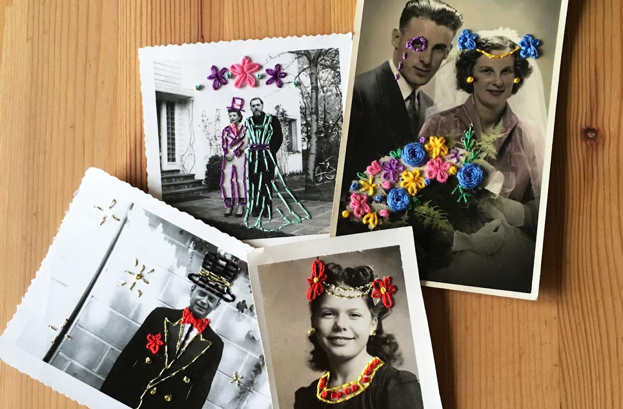 Broderie sur photos anciennes