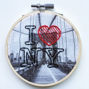 I love NY - embroidery
