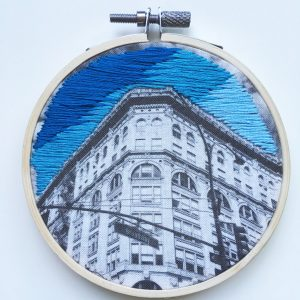 Manhattan Blue Sky Embroidery