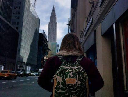 mon sac à dos à NewYork