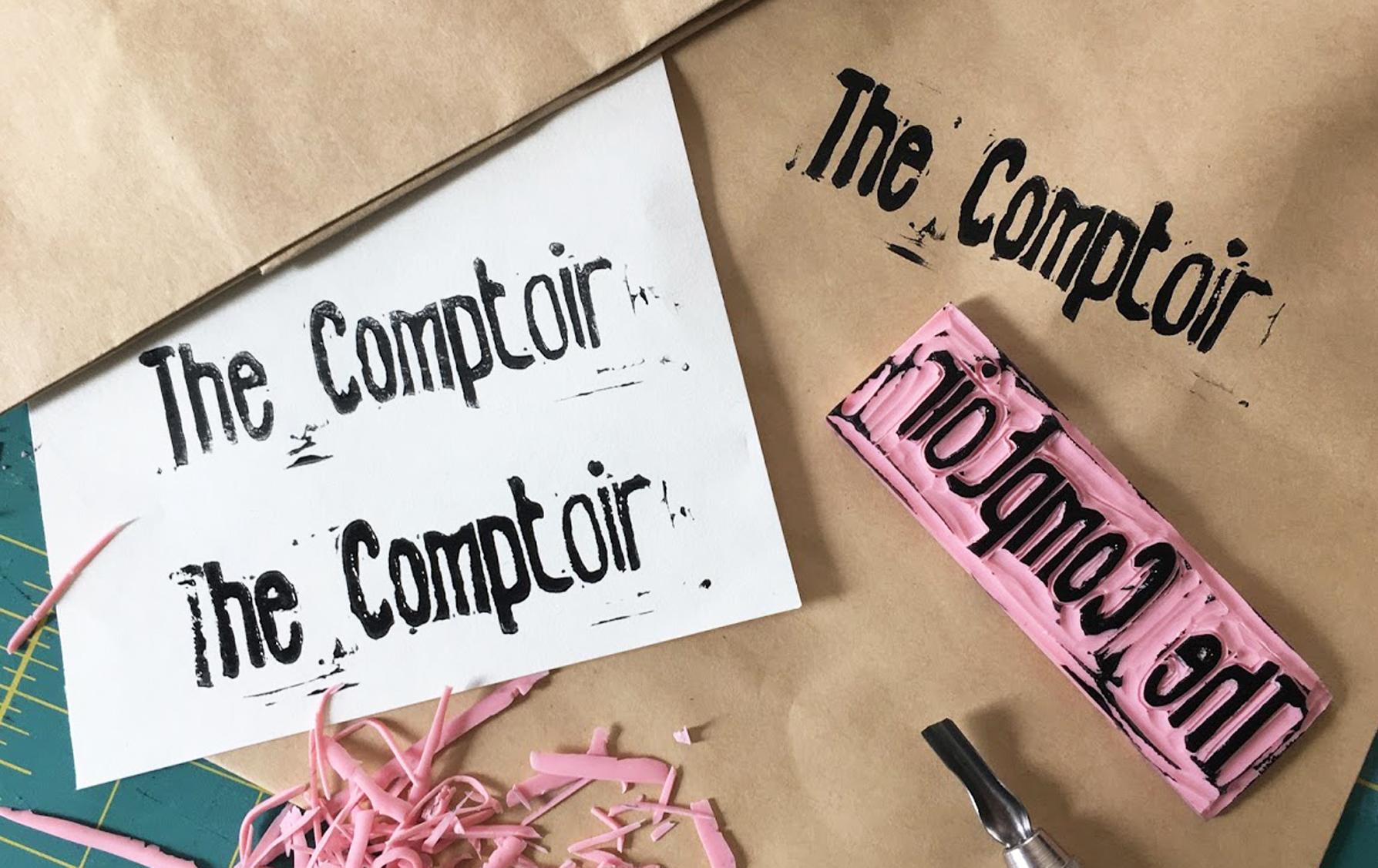 TheComptoir en lino gravure