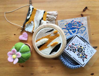 tissage, crochet, lino gravure