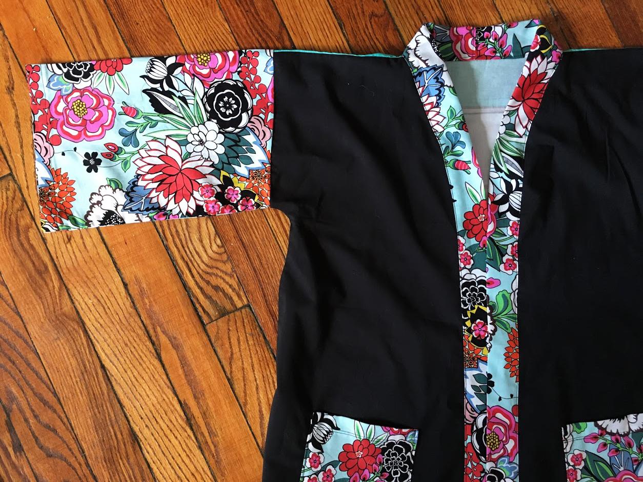 Les petits détails du devant du kimono