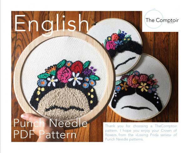 Punch Needle PDF Frida Engl