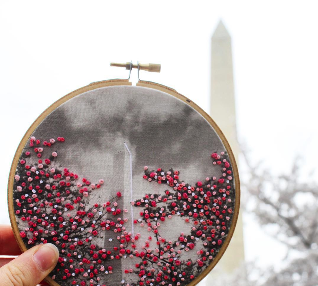 Washington Monument embroidery
