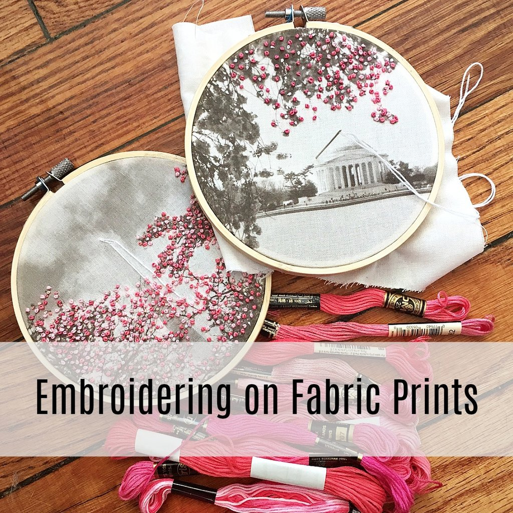 """ddda92088a88c Join """"The Comptoir"""" herself for this one of a kind hand embroidery  workshop! Screen-printed images will be embellished with hand embroidered  designs."""